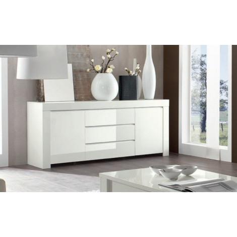 buffet de salle a manger moderne bahut blanc en enfilade. Black Bedroom Furniture Sets. Home Design Ideas