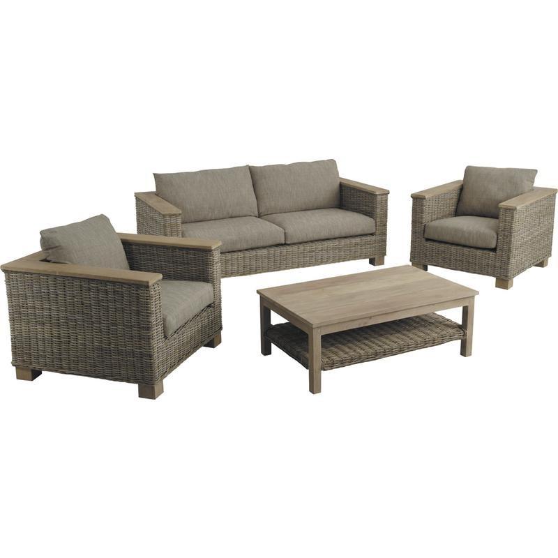 Salon de jardin haut de gamme rotin prix exceptionnel - Salon de jardin fauteuil ...
