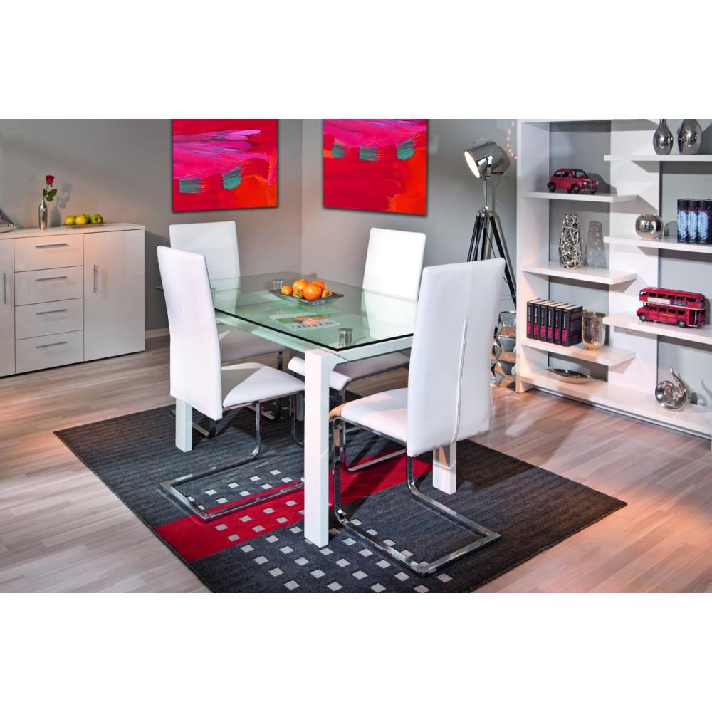 Chaise montana design blanche de cuisine ou salle manger - Chaise blanche de cuisine ...