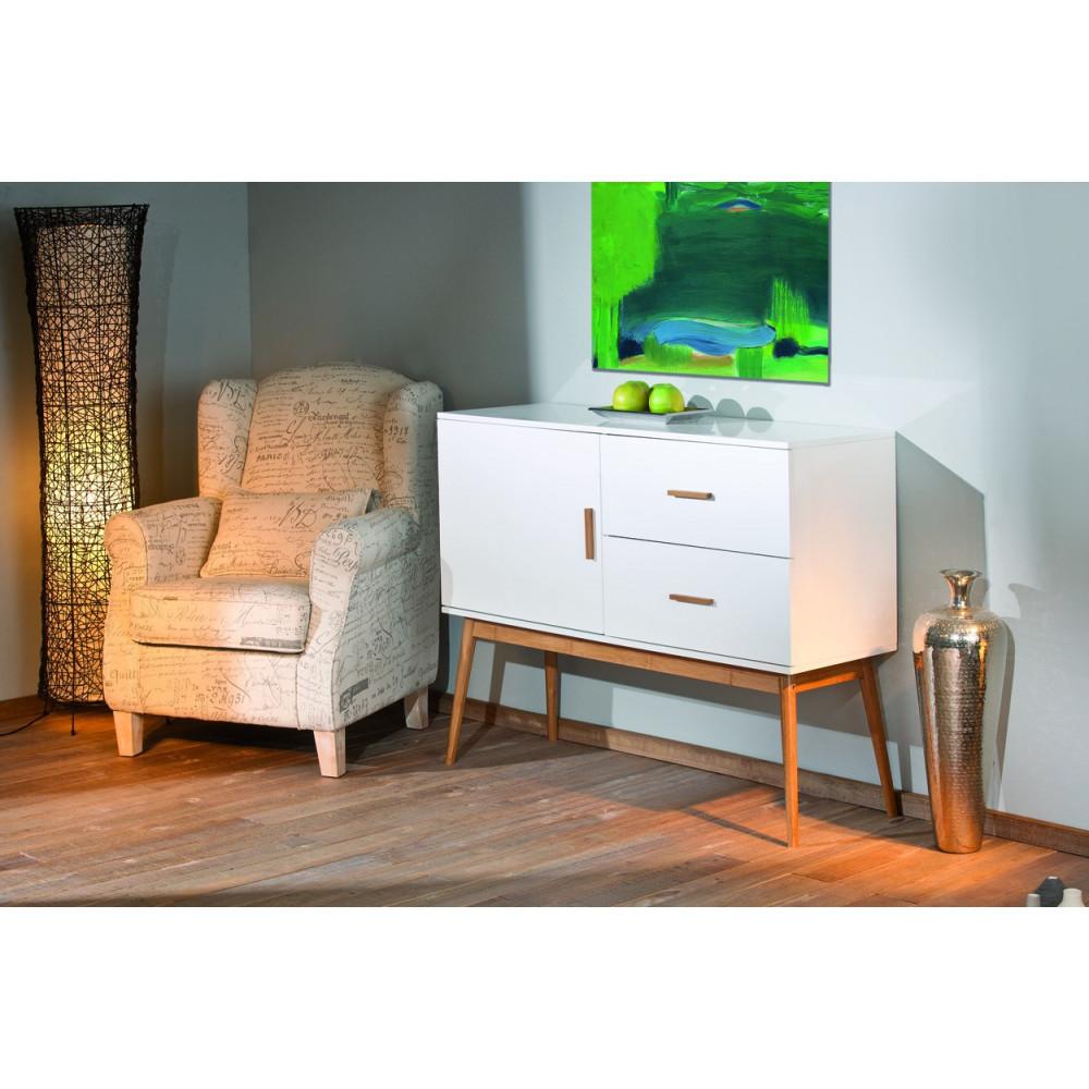 Bahut moderne blanc 115 cm a prix discount - Buffet moderne blanc ...