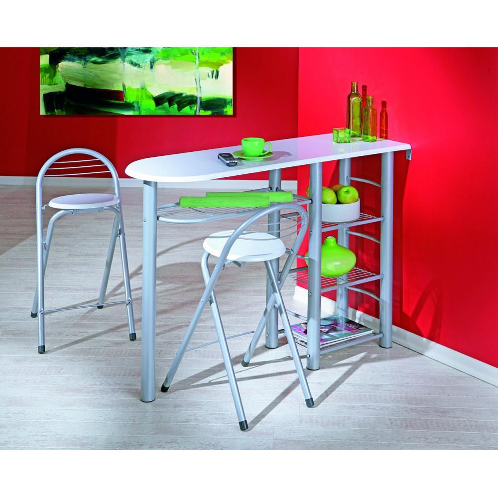 Ensemble de cuisine table bar et chaises hautes frida Chaises hautes cuisine