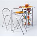 Ensemble de cuisine Table-Bar et chaises hautes FRIDA