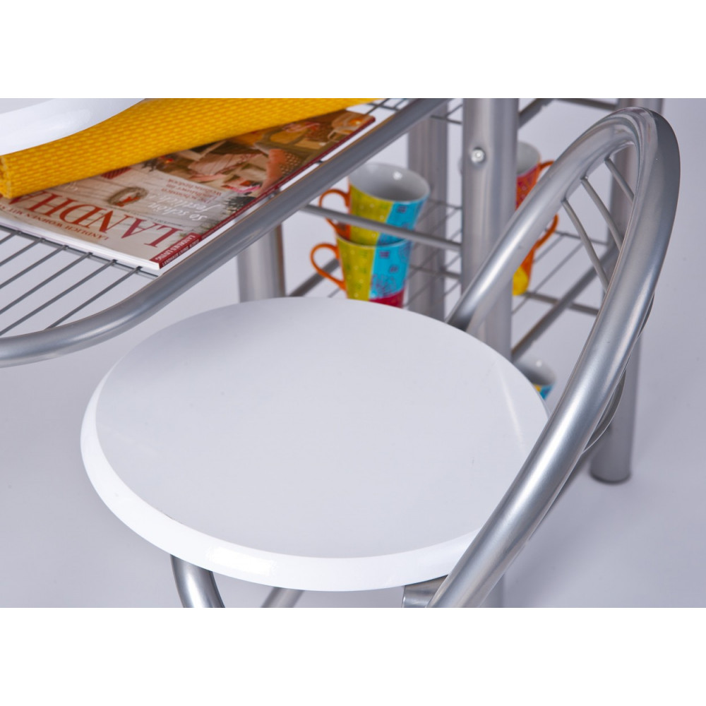 Ensemble de cuisine table bar et chaises hautes frida for Ensemble table et chaise de cuisine blanc