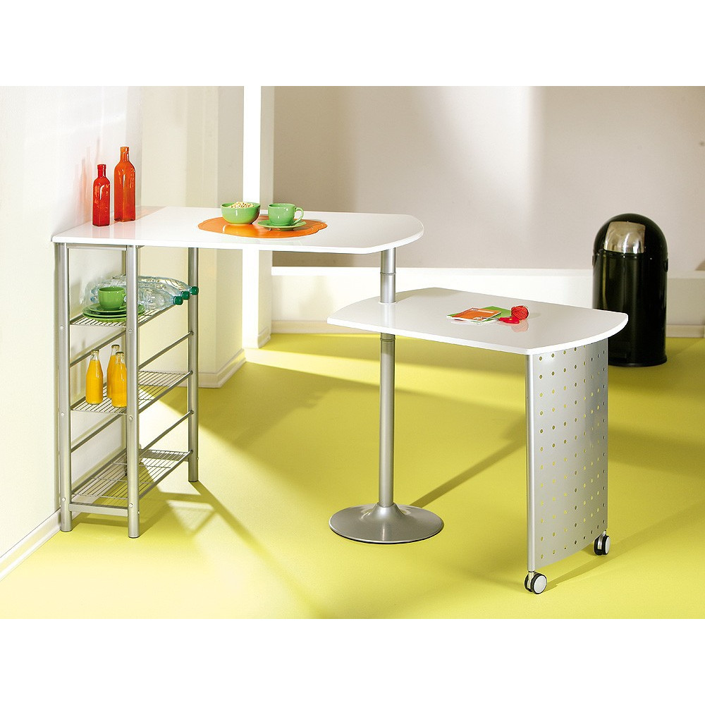 Ensemble de cuisine table bar et chaises hautes filamento for Ensemble table et chaise de cuisine blanc