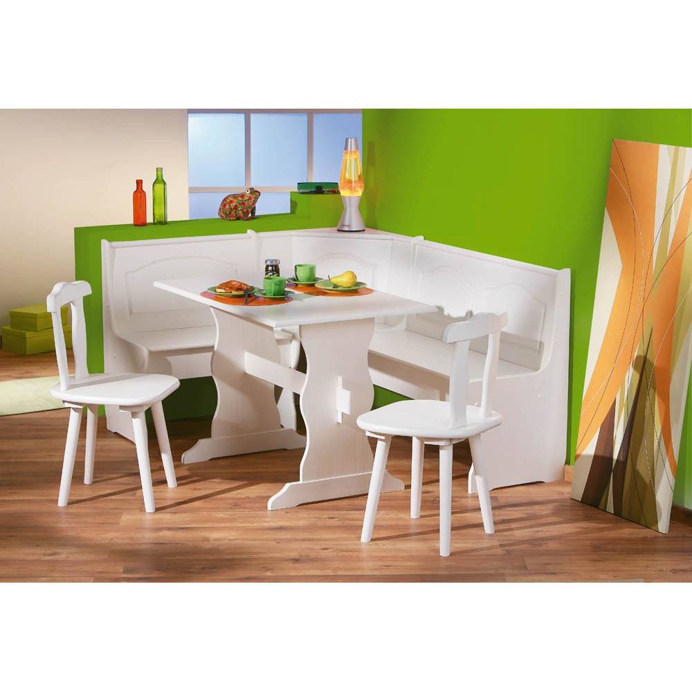 Ensemble de cuisine table bancs et chaises donau for Ensemble de cuisine blanc