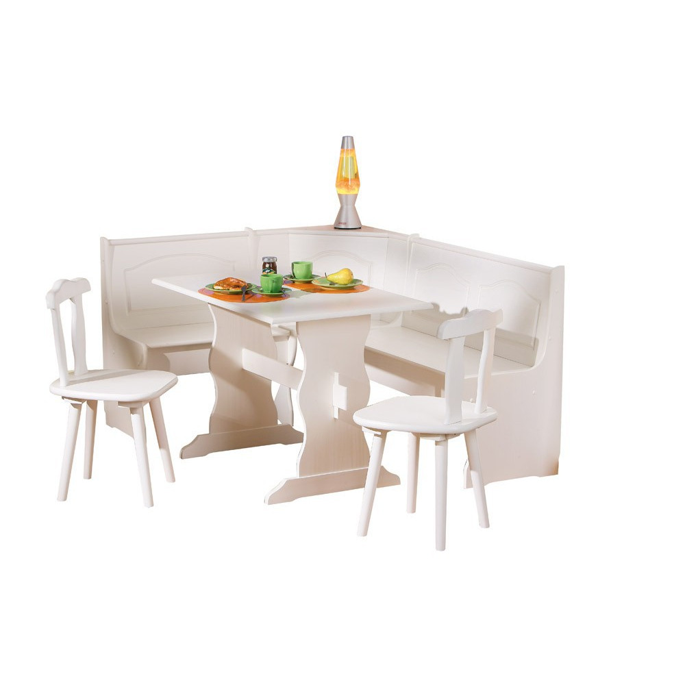 Ensemble de cuisine table bancs et chaises donau for Ensemble table et chaise de cuisine blanc