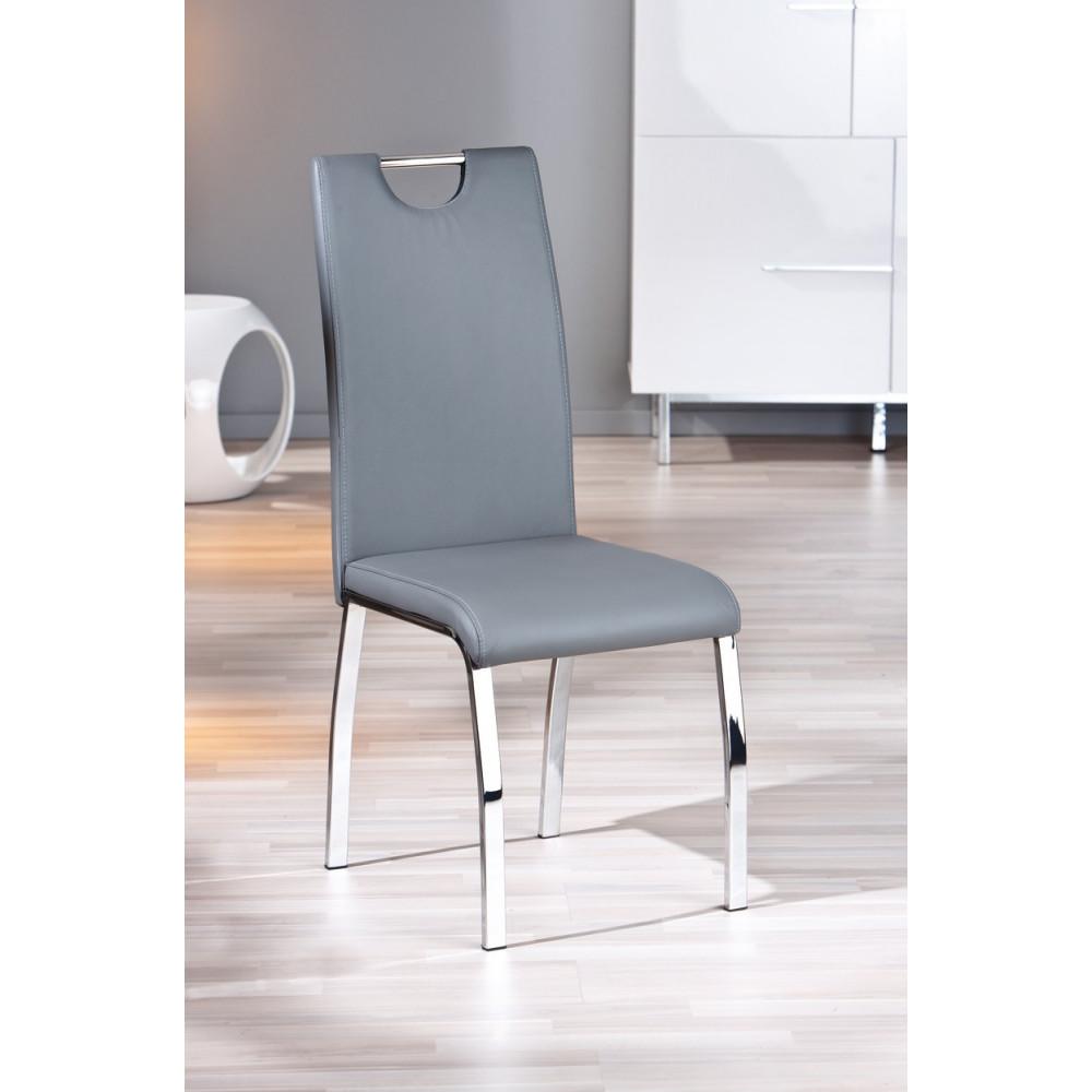 lot de 2 chaises grises salle manger. Black Bedroom Furniture Sets. Home Design Ideas