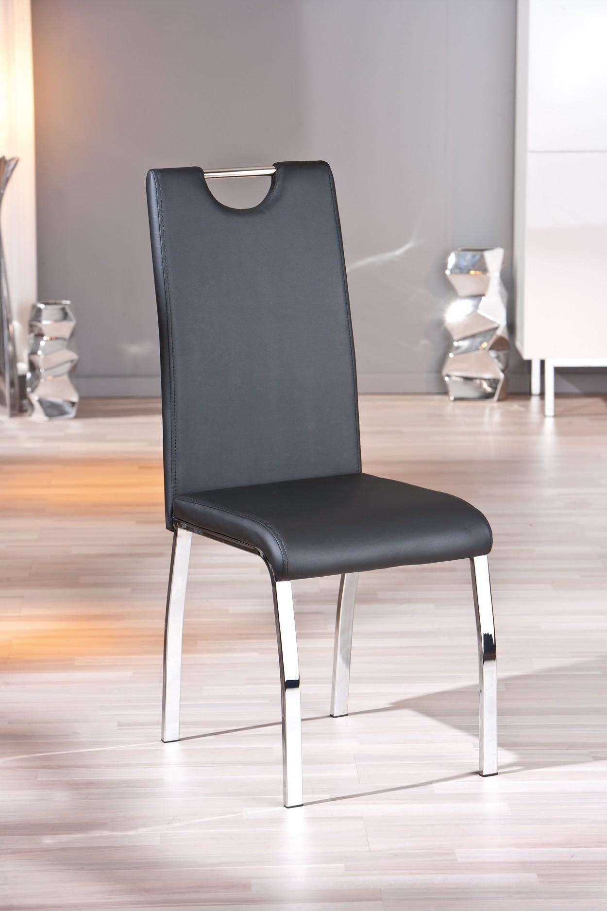 Lot de 2 chaises noires salle manger - Lot de chaises noires ...