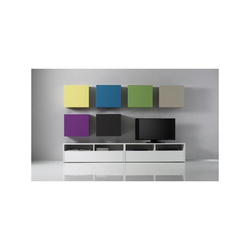 meuble tv design exist en 8 couleurs prix discount. Black Bedroom Furniture Sets. Home Design Ideas