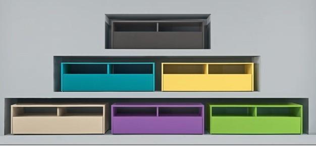 Meuble tv design exist en 8 couleurs prix discount for Meuble tele a suspendre