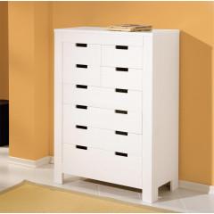 Bahut bas BEN 8 tiroirs blanc