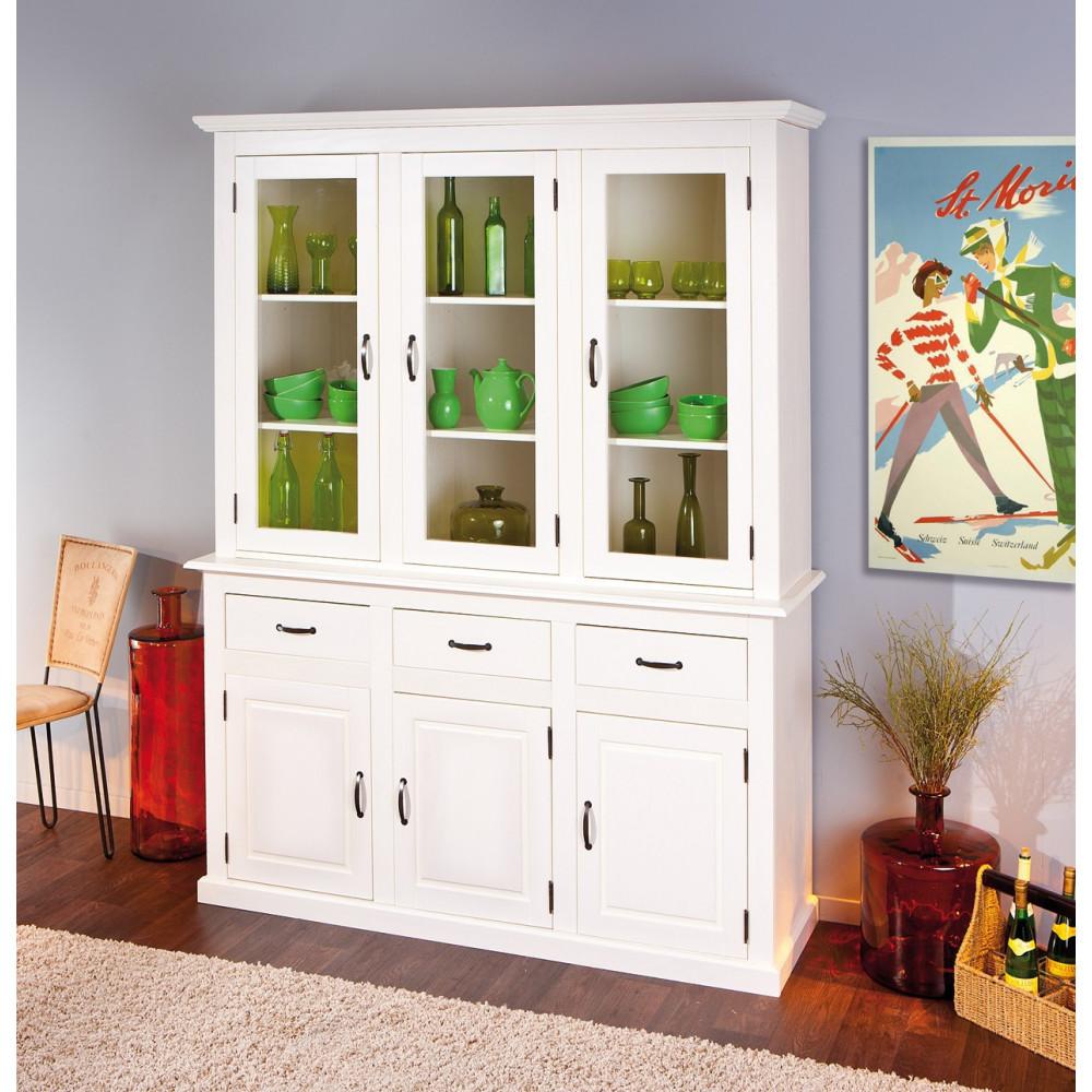 buffet de cuisine cassala 6 portes et 3 tiroirs blanc. Black Bedroom Furniture Sets. Home Design Ideas