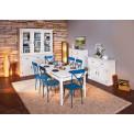 Buffet de cuisine CASSALA 6 portes et 3 tiroirs blanc