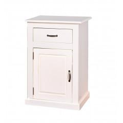 Bahut bas Vassala 1 porte et 1 tiroir blanc