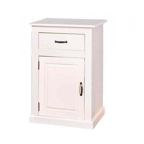 Bahut bas CASSALA 1 porte 1 tiroir blanc