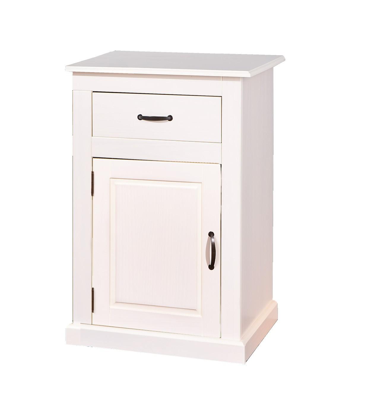 bahut bas cassala 1 porte 1 tiroir blanc. Black Bedroom Furniture Sets. Home Design Ideas