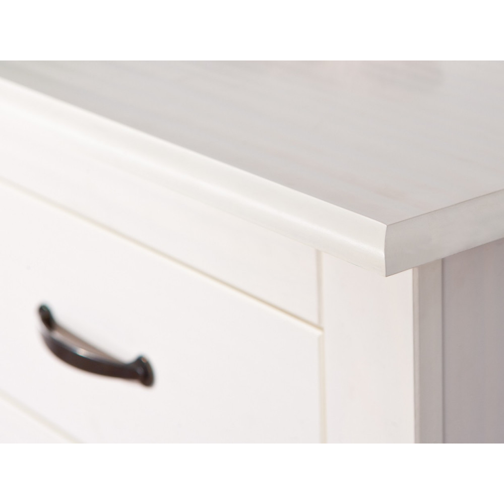 bahut bas cassala 6 tiroirs blanc. Black Bedroom Furniture Sets. Home Design Ideas