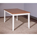 Table WESTERLAND Blanche et brun sépia 160x90x80