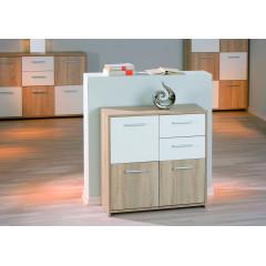 EBONY meuble chêne et blanc