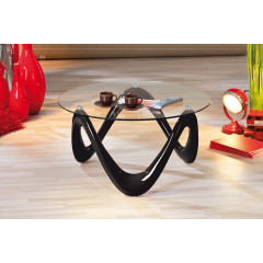 Table basse design de salon VALENTINE Noire