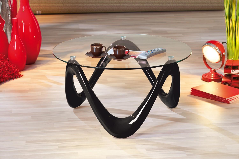 Table basse design de salon valentine noire - Table basse noire design ...