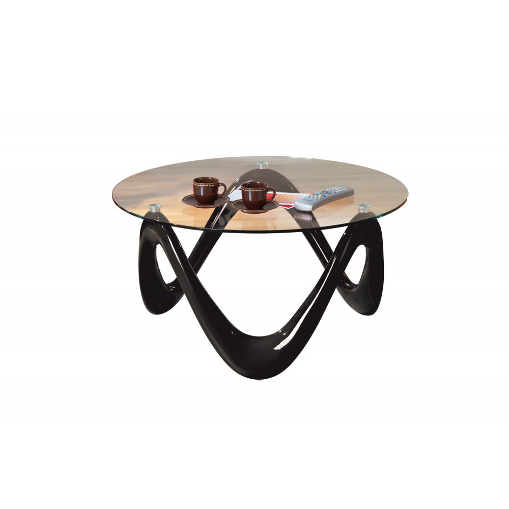Table basse design de salon valentine noire - Table de salon noire ...