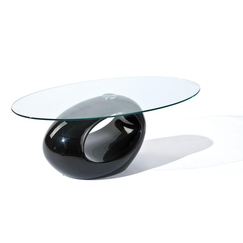 Table basse design de salon nigra noire - Table de salon noire ...