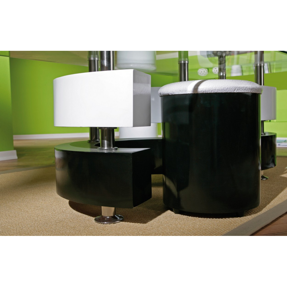 table basse design de salon saphira blanche et noire. Black Bedroom Furniture Sets. Home Design Ideas