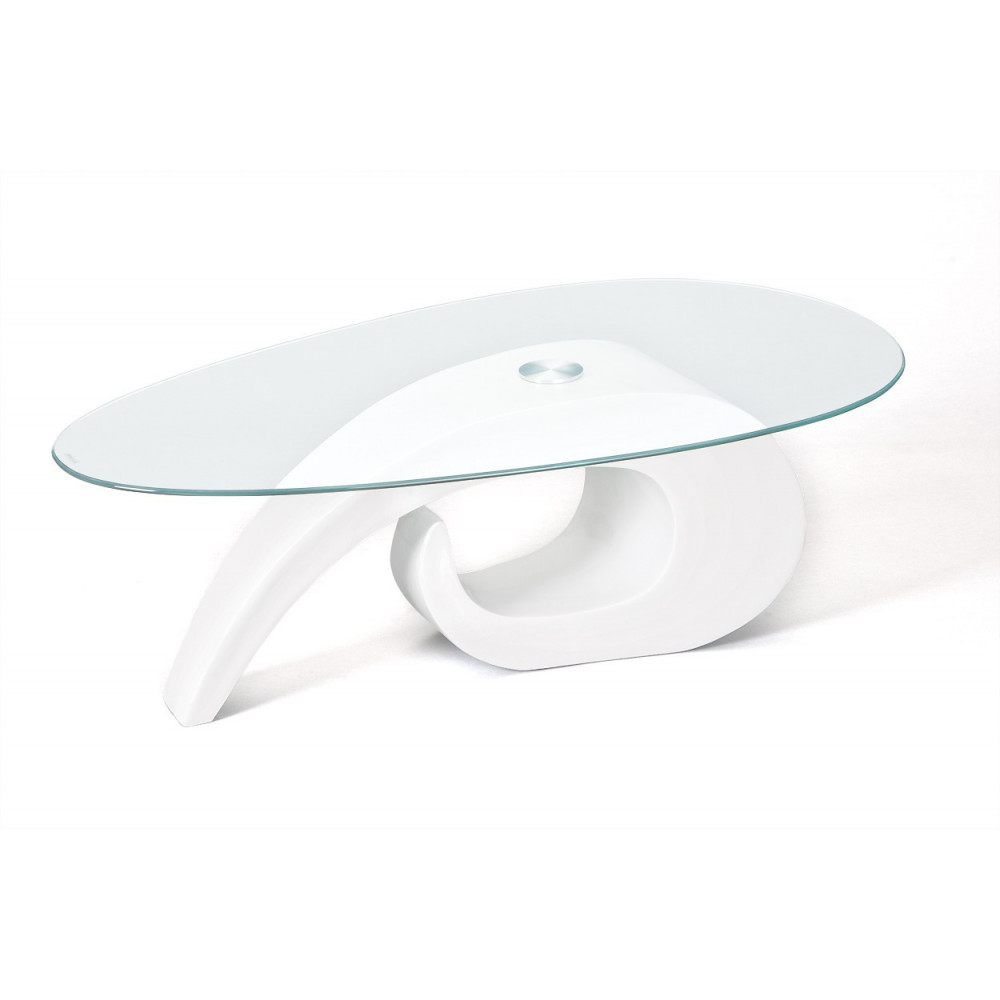 Table basse design de salon coisa blanche for Table basse blanche design