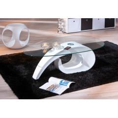 Table basse design de salon COISA Blanche