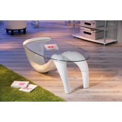 Table basse design de salon BELLA Blanche