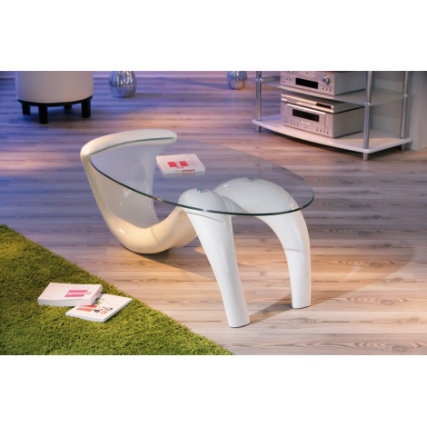 Table Basse Design De Salon Bella Blanche