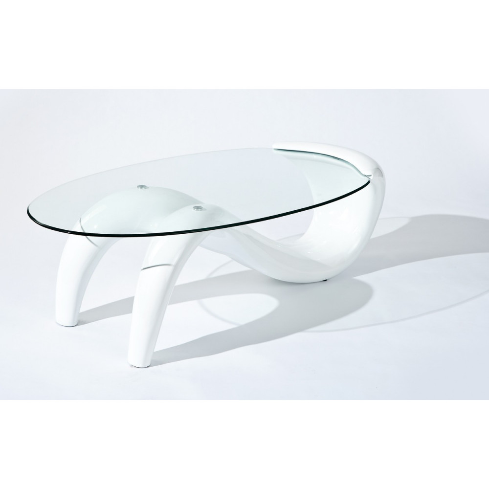 Table basse design de salon bella blanche for Table basse de salon design