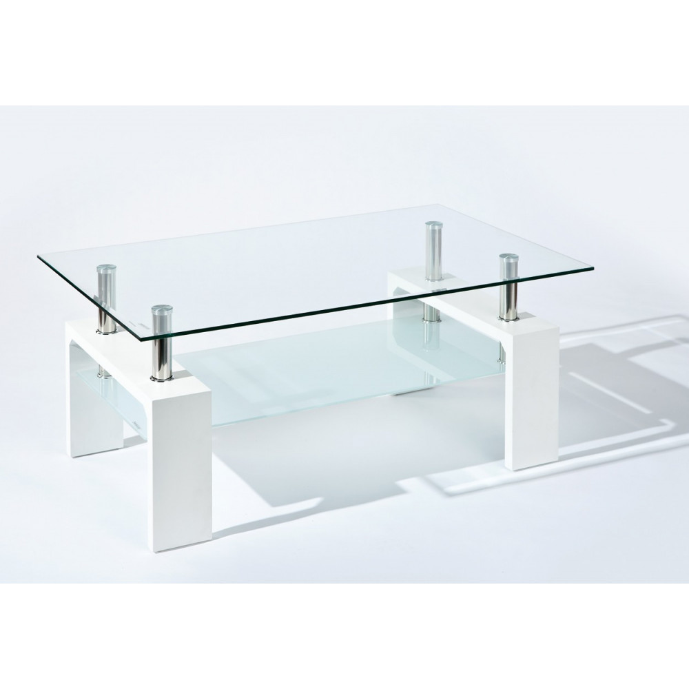 Table basse design open for Table design blanche