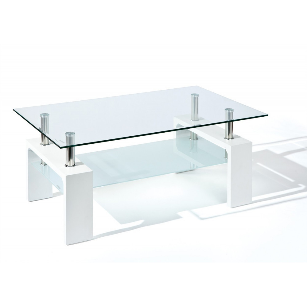 Table basse design de salon alva blanche - Table basse contemporaine design ...