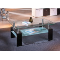 Table basse design de salon DANA Noire