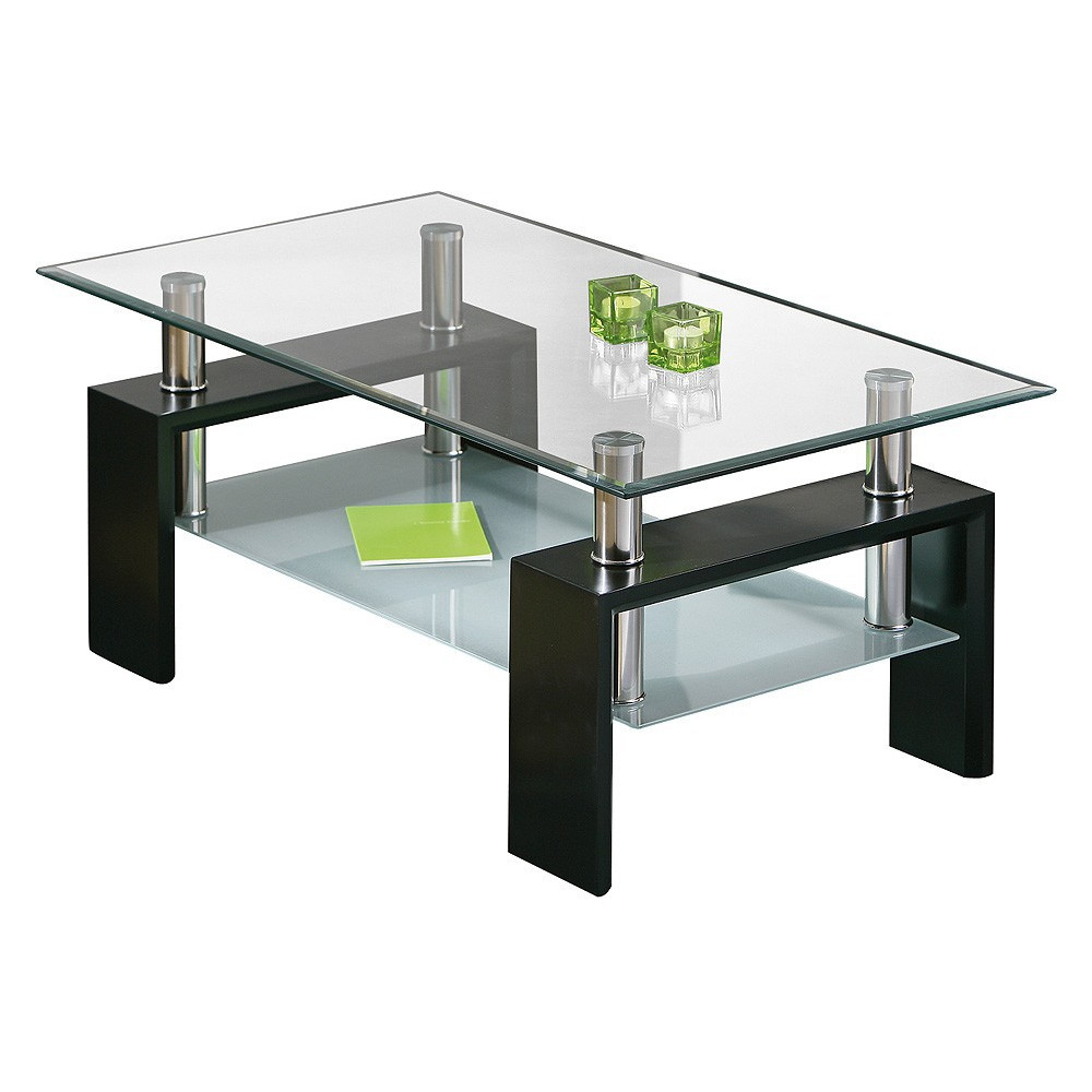 Table basse design de salon dana noire - Tables basses de salon design ...