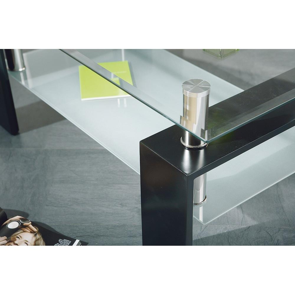 Table basse design de salon dana noire - Table basse noire design ...
