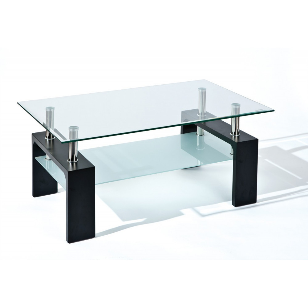 Table basse design de salon dana noire - Table de salon noire ...