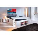 Lit meuble TILL 180x200 Pin massif blanc