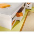 Lit meuble TILL 160x200 Pin massif blanc