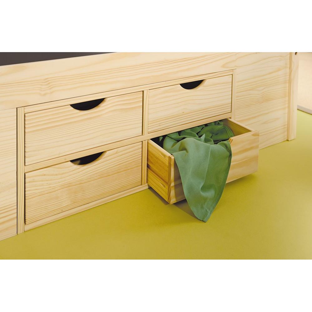 lit meuble CLASS 140x190 pin massif naturel
