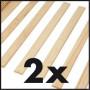 Lit meuble CONFORTO 140x190/200 Pin massif Blanc et Gris