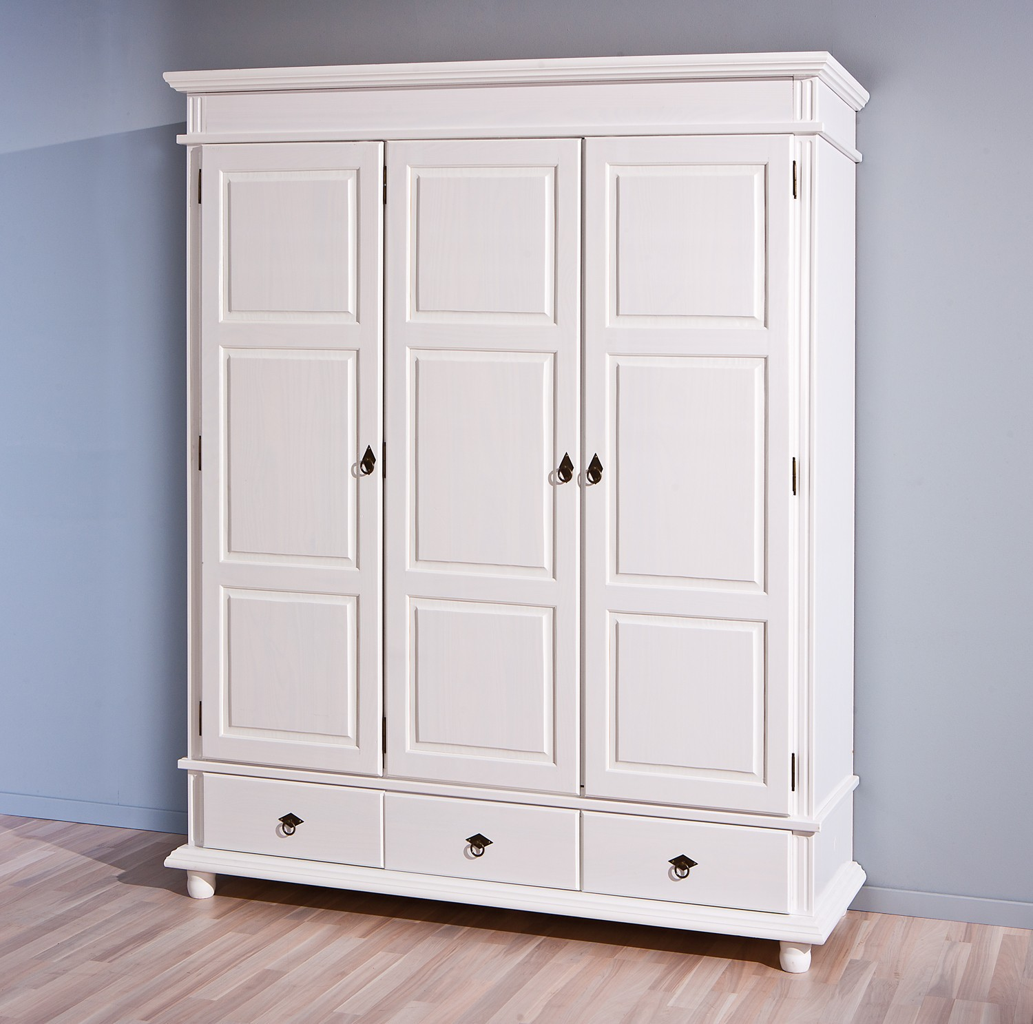 armoire danz blanche 3 portes battantes. Black Bedroom Furniture Sets. Home Design Ideas