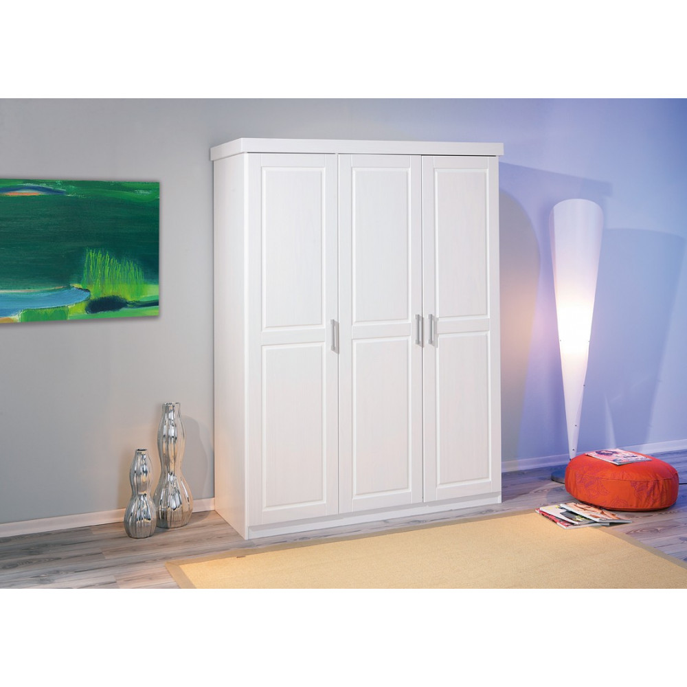 armoire hakon blanche 2 portes battantes. Black Bedroom Furniture Sets. Home Design Ideas