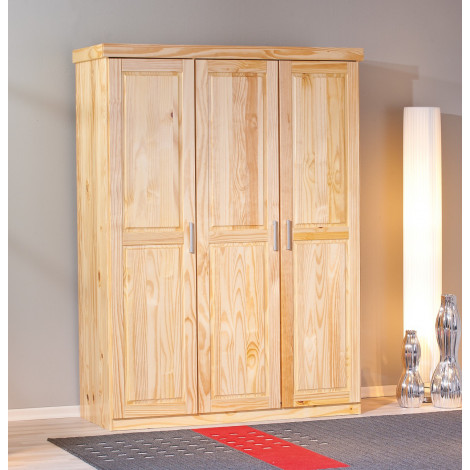 ARMOIRE PELLE Naturel 3 Portes battantes