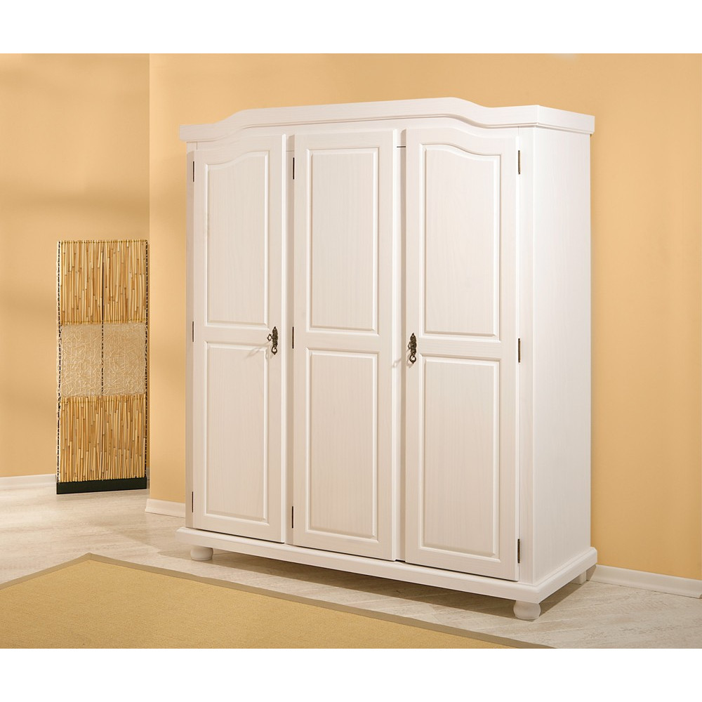 armoire bastian blanche 3 portes battantes. Black Bedroom Furniture Sets. Home Design Ideas