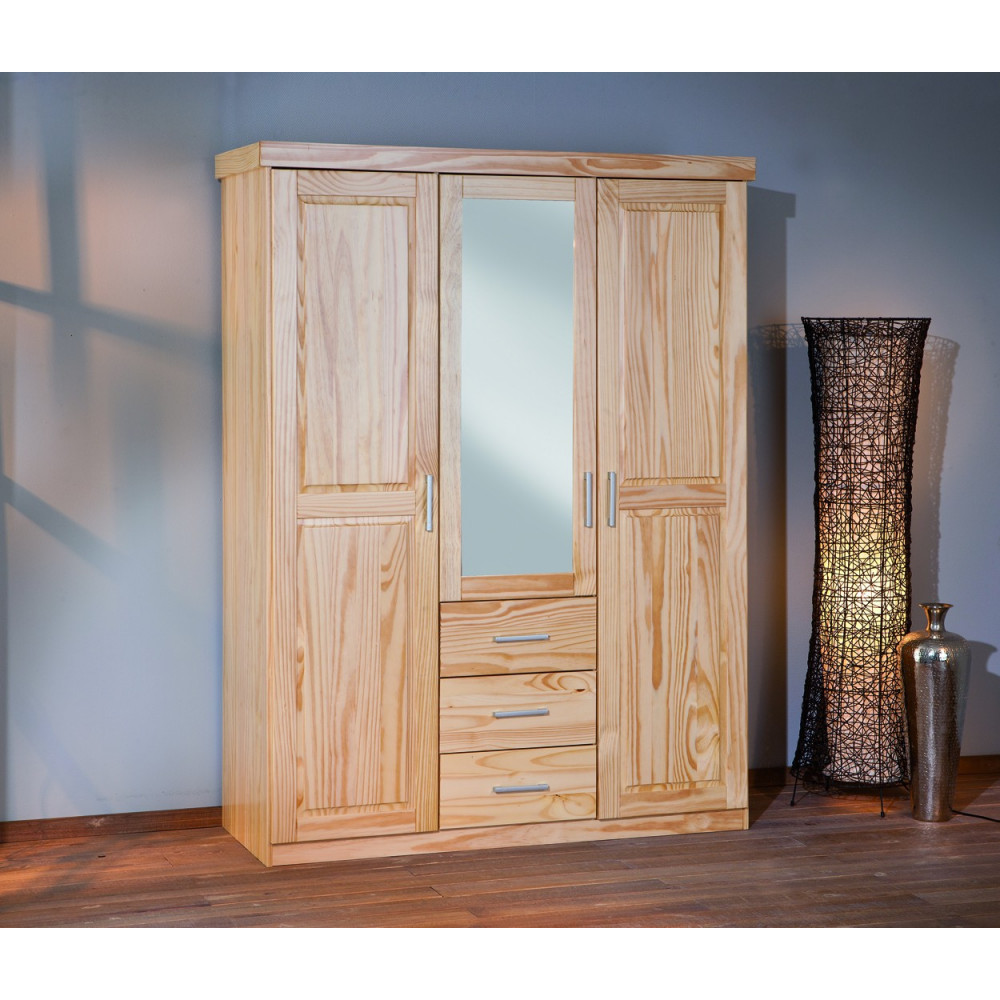 armoire celso blanche 3 portes 3 tiroirs. Black Bedroom Furniture Sets. Home Design Ideas