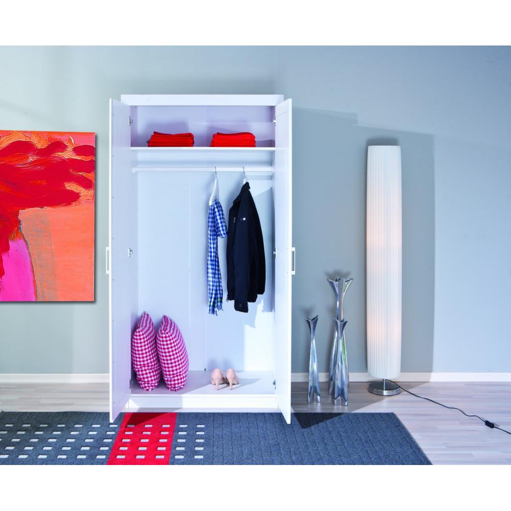chambre complete uli pin massif blanc. Black Bedroom Furniture Sets. Home Design Ideas