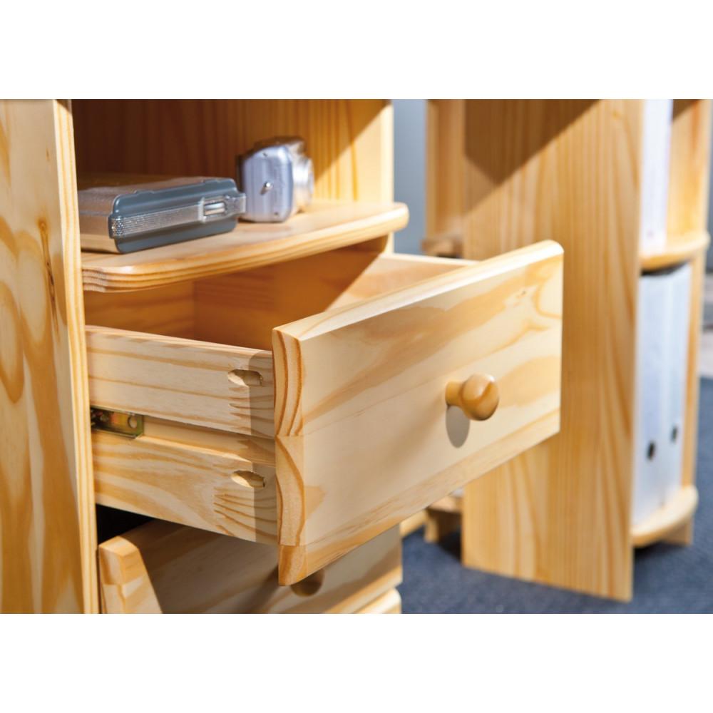 bureau touchround 137x61 pin naturel. Black Bedroom Furniture Sets. Home Design Ideas